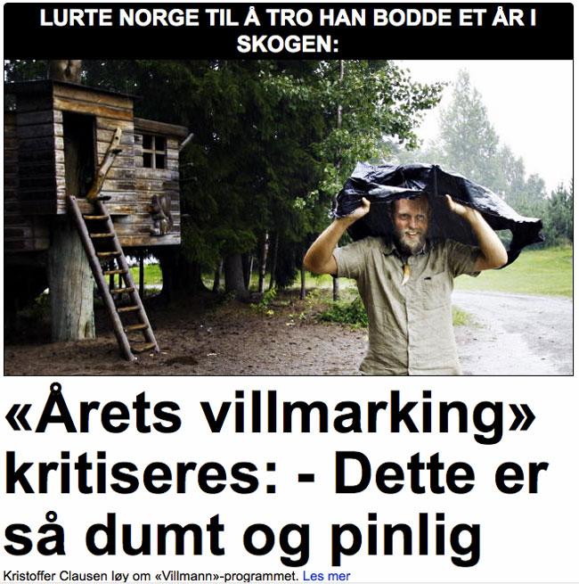 Faksimile fra dagbladet.no