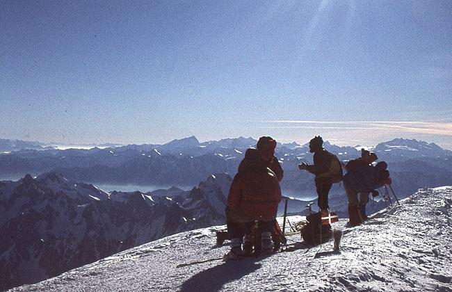 Til topps på Mont Blanc