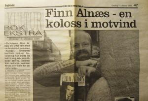 Faksimile av Dagbladet 11. oktober 1995 der Alnæs-biograf Truls Gjefsen ble intervjuet.
