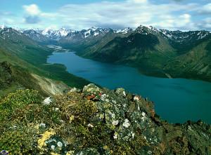 Twin Lakes er ei praktfull naturperle på vestkysten av Alaska.