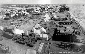 Nome var ei ubebodd slette ved havkanten før gullrushet. Da gullet ble oppdaget vokste det først fram en diger teltby.