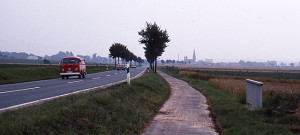Sykkelvegene sørover i Tyskland er gode, men uendelig lange.