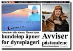 Faksimile av dagens oppslag på VG-nett.