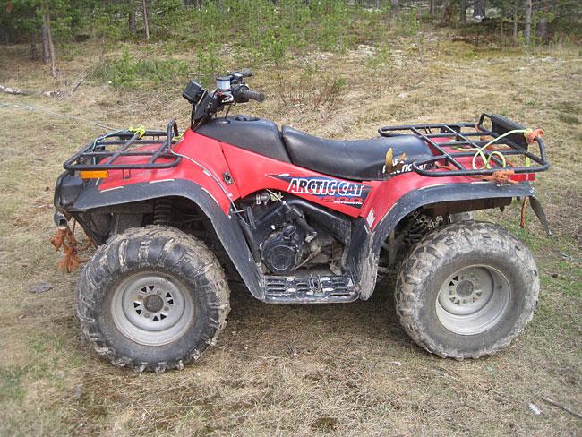 Velbrukt ATV i god stand. Har nesten utelukkende vært brukt til hundekjøring de siste årene.