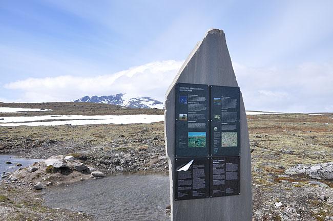 En moderne bauta har blitt reist i nyere tid for å markere inngangen til Dovrefjell nasjonalpark.