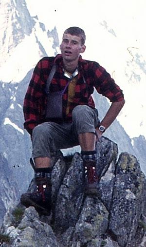 Fra anmarsjen til Aiguille de l'M, Mont Blanc massivet, 1977