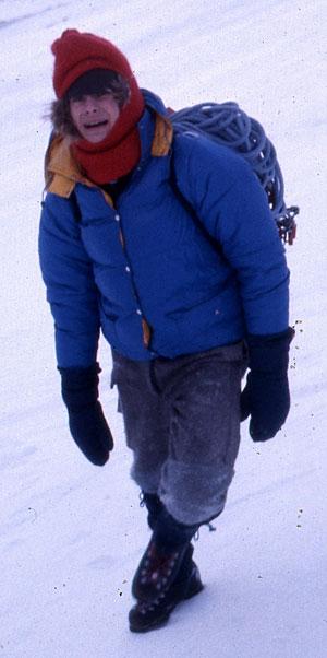Fra en vinterbestigning av Romsdalshorn, 1976.