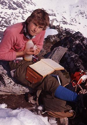 På toppen av Bispen. 1975.