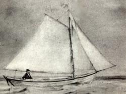 """Alfred """"Centennial"""" Johnson var den første som krysset Atlanterhavet alene. I 1876 seilte han en åpen trebåt fra Massachusetts til Liverpool. Visstnok uten medbrakt proviant og ferskvann."""