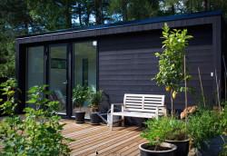 Jo mindre huset er, jo større og finere kan hagen være.