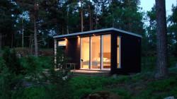 En komplett enebolig på 20 kvadratmeter til 245.000 kroner fra det svenske firmaet Enkelrum.