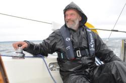 Det ble mange og lange våte timer i cockpiten undervegs mot Kristiansand.