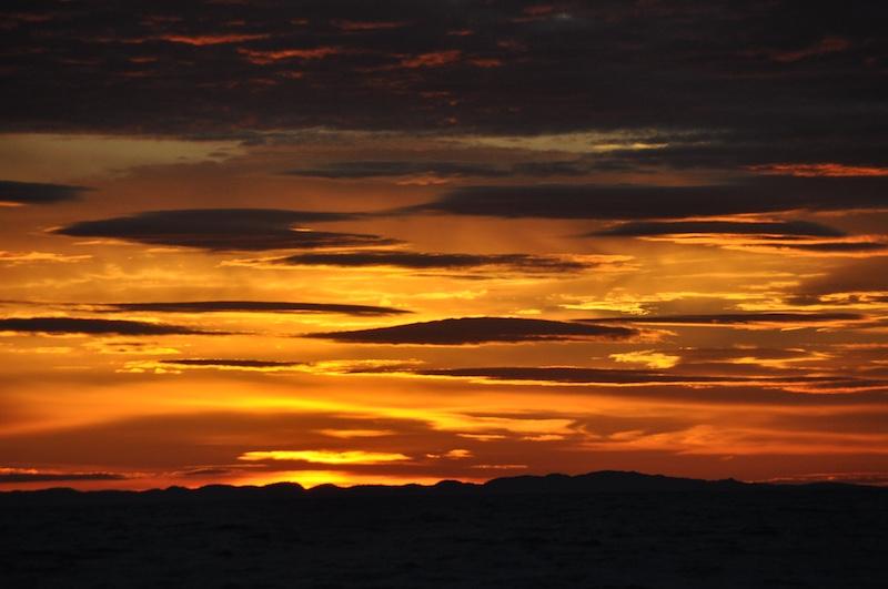 Stemningsfull solnedgang.