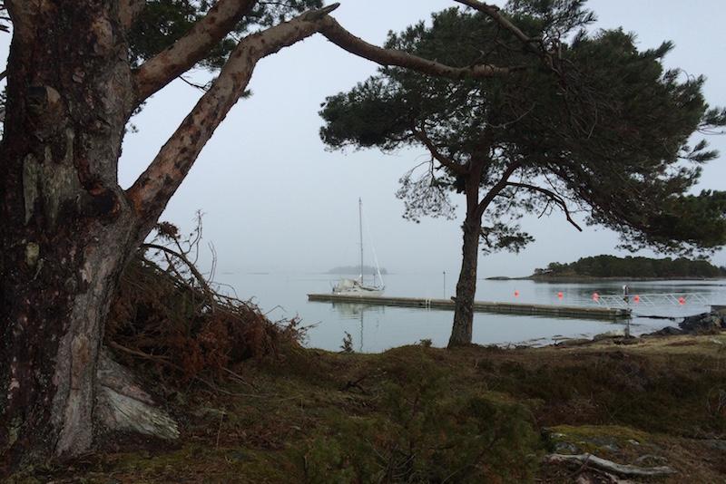 Isa Amalie ved gjestekaia på Hjertøya.
