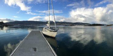 Panoramautsikt innover mot Molde by.