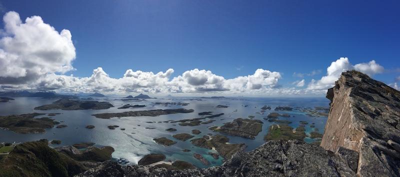 Utsikt fra Rødøyløyva.